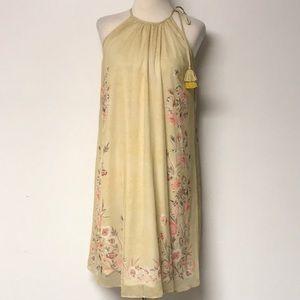 Golden Paisley & Floral Tunic Dress